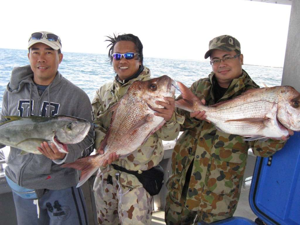 snapper to 6kg and trevally to 3