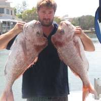 two huge fish caught by customer